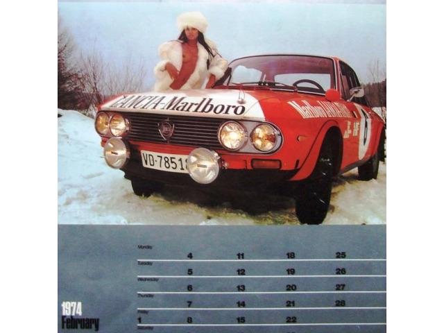 Calendario 1974.Calendario 1974 Auto 11 Marlboro Lancia Poster Coll Privata