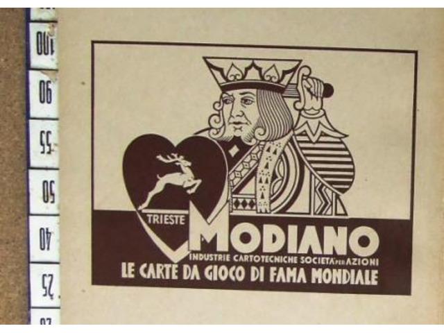 Carte da gioco Modiano tre semi Schedario Francobollo Coll.Privata