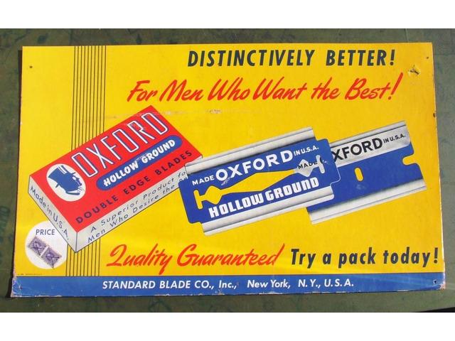 Targa 12 Insegna lametta pubblicitario Oxford Cartone