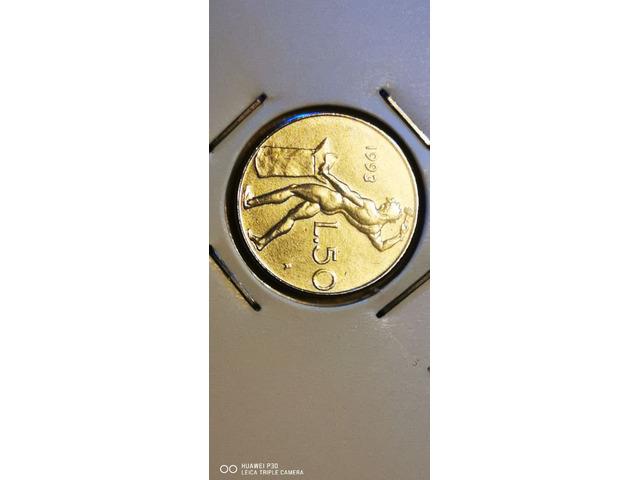 50 LIRE MICRO VULCANO ANNO 1993