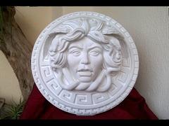Medusa scultura dalle due greche diametro 35 cm