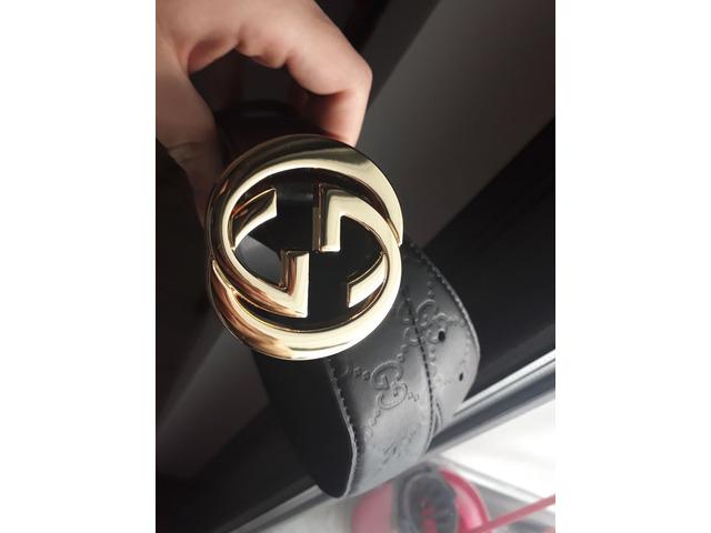 Cintura Gucci nera uomo e donna