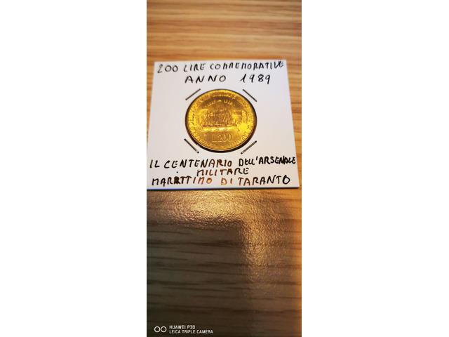 200 LIRE COMMEMORATIVE ANNO 1989