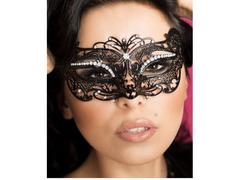 Maschera filigranata con strass
