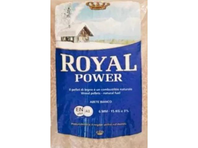 Bancale 65 Sacchi Da 15 Kg Pellet Di Abete Bianco EN PLUS A1 Royal Power