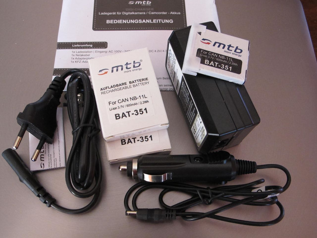 mtb digi charger dcl 638 can nb 11L + 2 batt.lio.ion 351
