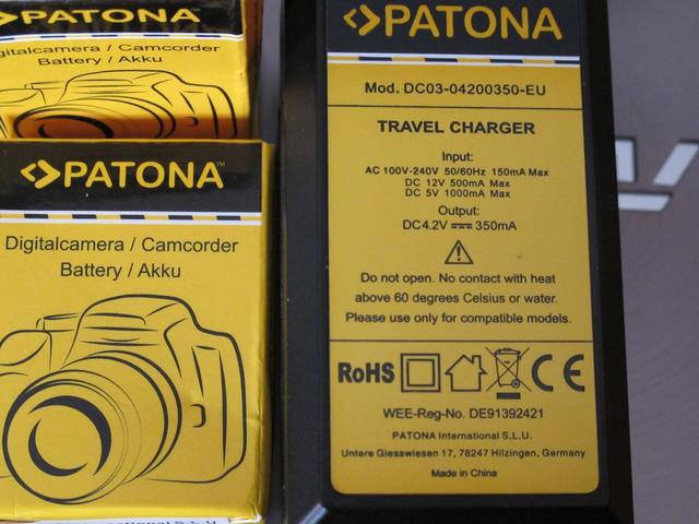 Patona Digital Battery Charger 4.2 V 1803 - 4/10
