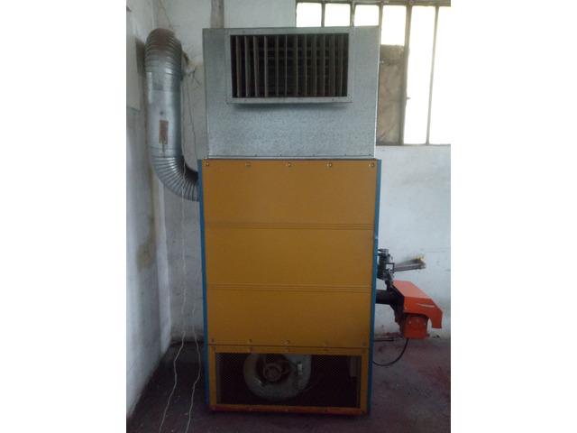 Generatore aria calda con bruciatore Baltur a metano