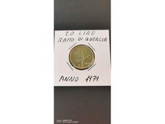 20 LIRE RAMO DI QUERCIA ANNO 1979