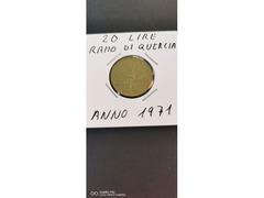 20 LIRE RAMO DI QUERCIA ANNO 1971