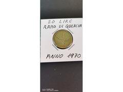20 LIRE RAMO DI QUERCIA ANNO 1970