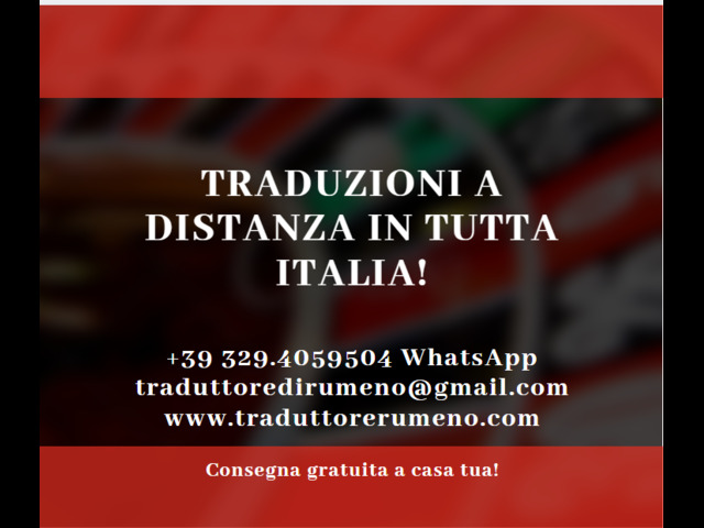 Traduzioni a distanza in tutta Italia