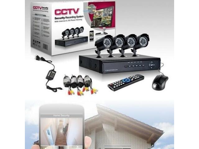 Kit di Videosorveglianza 4 Canali CCTV Telecamera infrarossi dvr - 1/1