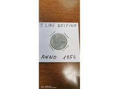 5 LIRE DELFINO ANNO 1954
