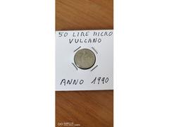 50 LIRE MICRO VULCANO ANNO 1990