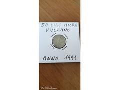 50 LIRE MICRO VULCANO ANNO 1991
