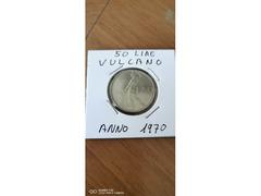 50 LIRE VULCANO ANNO 1970