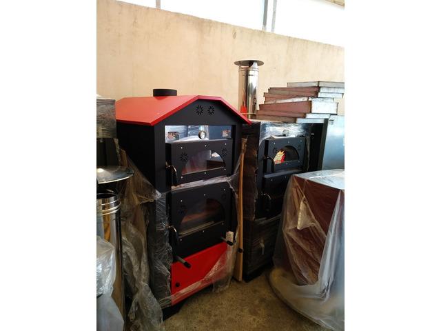 Forno a legna ventilato in acciaio inox con barbecue estraibile - 3