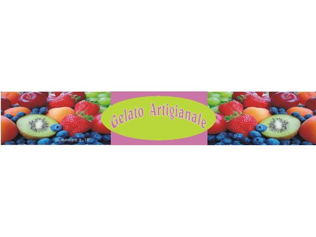 gelateria adesivi personalizzati x vaschette gelato d'asporto