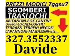 Roma sgomberi gratis locali appartamenti ville cantine garage ed altro 7gg su7