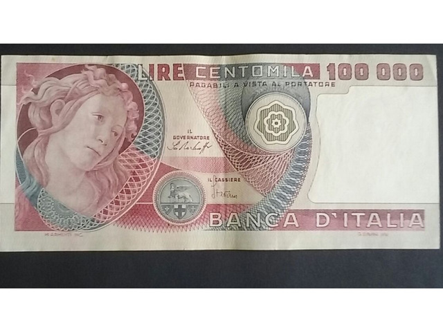 100mila lire in cartamoneta