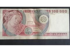 100mila lire in cartamoneta