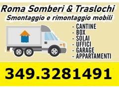 Piccoli e grandi Traslochi Roma Lazio Italia a prezzi inimitabili 7gg su7