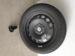 cerchio ruota in ferro con gomma golf 5