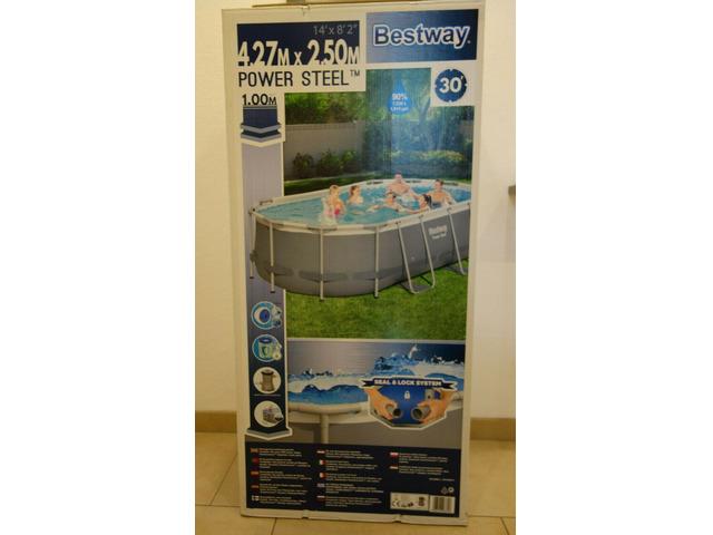 BESTWAY POWER STEEL OVAL Set piscina 424x250x100cm - 1