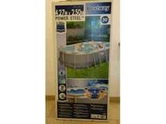 BESTWAY POWER STEEL OVAL Set piscina 424x250x100cm