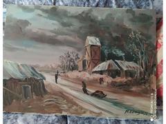 Quadro Arturo Vergagni Paesaggio Invernale