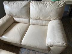 Nr 2 divani natuzzi in pelle bianca