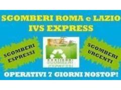 SGOMBERO APPARTAMENTI/CANTINE/BOX A PREZZI ECONOMICI ROMA E LAZIO
