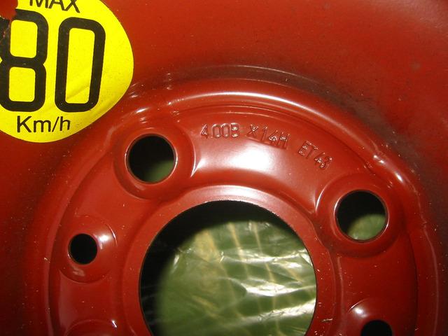 Ruotino rosso di scorta Fiat - 1
