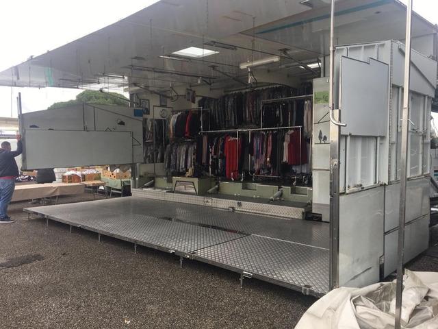autocarro euro cargo 80.18 negozio auto con pedana idraulica altezza cm da terra 25 modello fiat