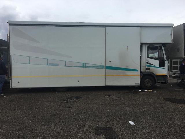 autocarro euro cargo 80.18 negozio auto con pedana idraulica altezza cm da terra 25 modello fiat - 7