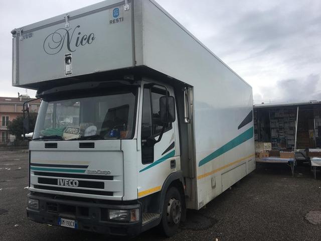 autocarro euro cargo 80.18 negozio auto con pedana idraulica altezza cm da terra 25 modello fiat - 9