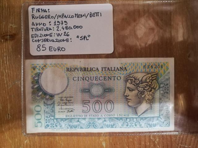 Banconota da 500 Lire