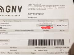 Voucher per navi GNV