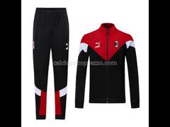 giacca divisa magliette ac milan rosso 2021