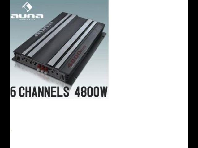 Amplificatore auna car hifi 6 5 3 2 canali bridgeable 4800 w - 1
