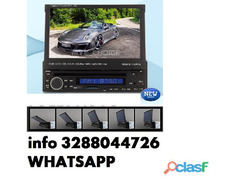 Autoradio monitor lcd 7 pollici 1 din dvd cd fm mp4 divx usb