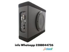 Subwoofer auto attivo amplificato flat 1100 watt cassa chius