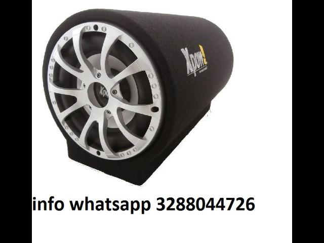 Subwoofer auto attivo amplificato tunnel bass box 1400 watt - 1