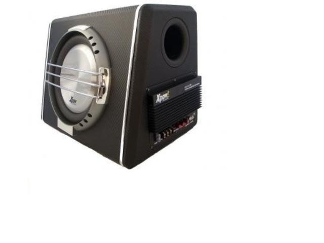 Subwoofer auto amplificato 2400 watt max cono flat piatto - 1