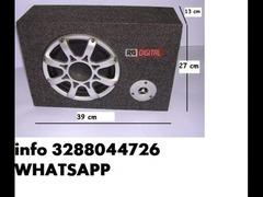 Subwoofer attivo auto amplificato 300w watt 300 bass reflex