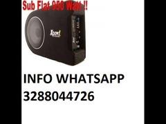Subwoofer auto attivo amplificato flat 900 watt cassa chiusa