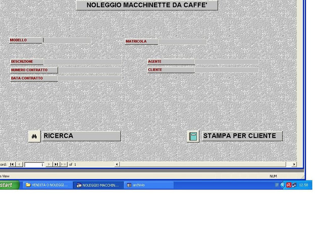 ORIGINALE SOFTWARE NOLEGGIO/VENDITE MACCHINETTE DA CAFFÉ