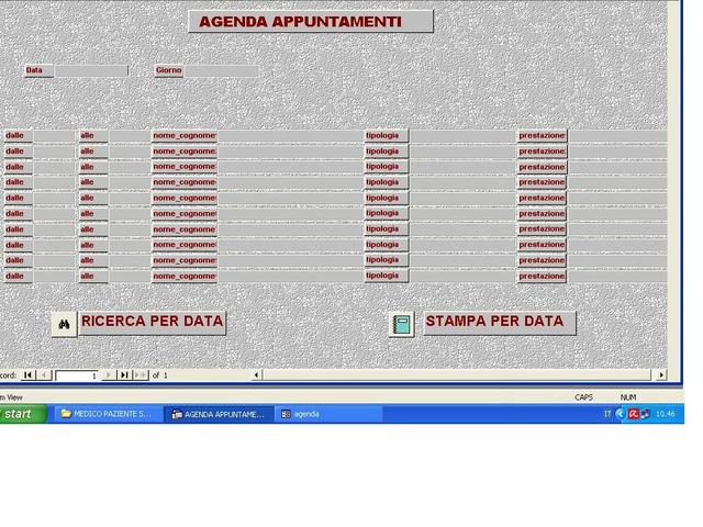 SOFTWARE GESTIONALE - AMBULATORIO DEL MEDICO DI BASE