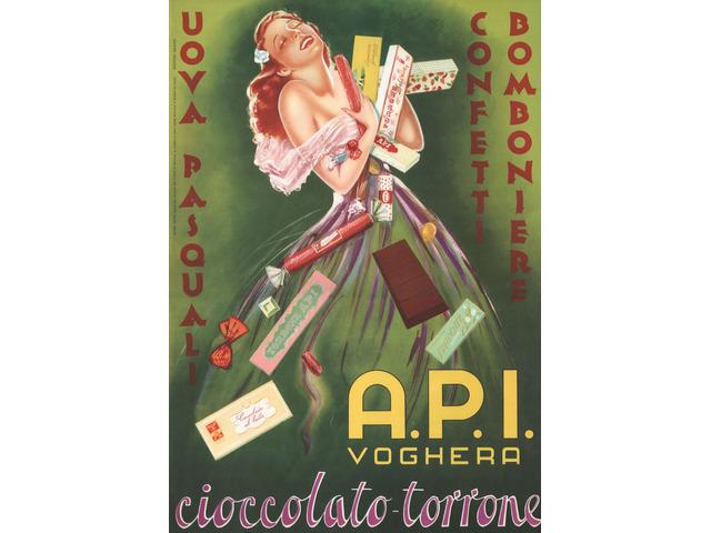 Manifesto A.P.I. 50x70 Cioccolato -Torrone